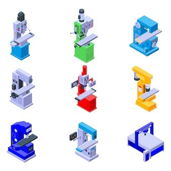 Conjunto de ícones de máquina de trituração