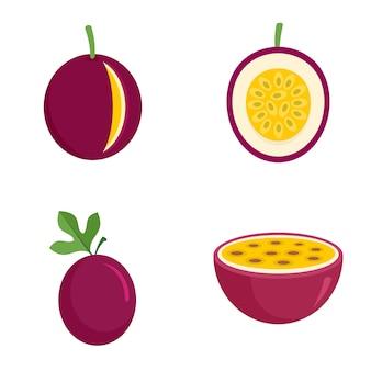 Conjunto de ícones de maracujá