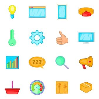 Conjunto de ícones de marketing