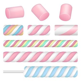 Conjunto de ícones de marshmallow