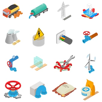 Conjunto de ícones de material físico