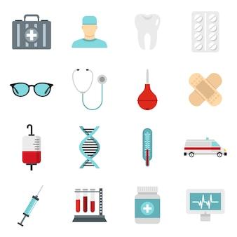 Conjunto de ícones de medicina