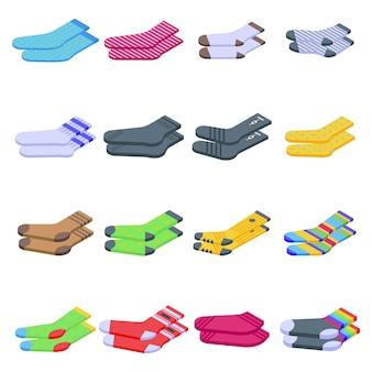 Conjunto de ícones de meias