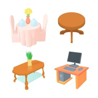 Conjunto de ícones de mesa