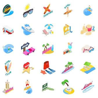 Conjunto de ícones de miami