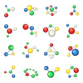 Conjunto de ícones de molécula