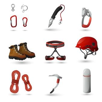 Conjunto de ícones de montanhismo