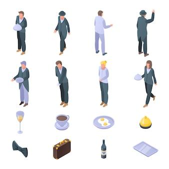 Conjunto de ícones de mordomo