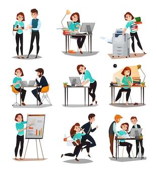 Conjunto de ícones de multitarefa