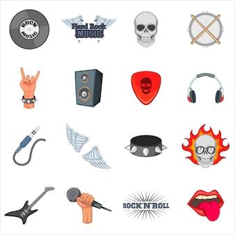 Conjunto de ícones de música rock