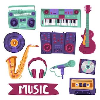 Conjunto de ícones de música