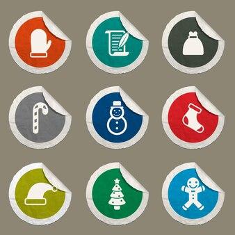 Conjunto de ícones de natal para sites e interface do usuário