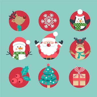 Conjunto de ícones de natal.