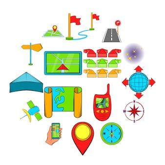 Conjunto de ícones de navegação