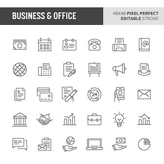 Conjunto de ícones de negócios e escritório