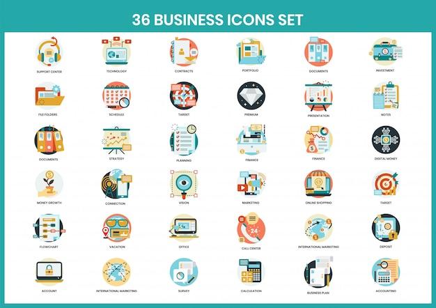 Conjunto de ícones de negócios para negócios