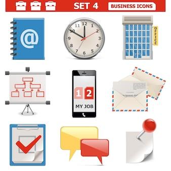 Conjunto de ícones de negócios vetoriais 4