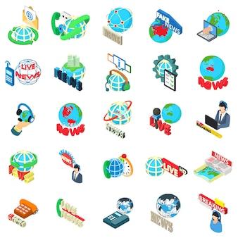 Conjunto de ícones de notícias do mundo