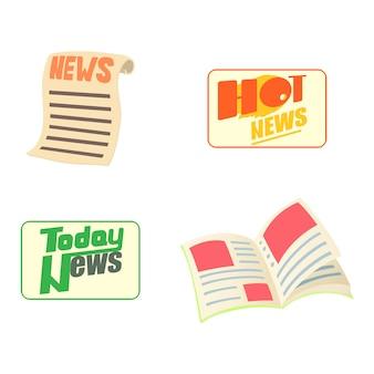 Conjunto de ícones de notícias