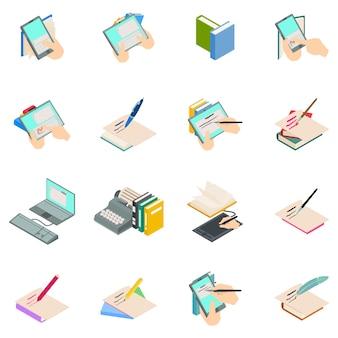 Conjunto de ícones de novelista