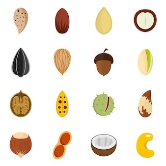 Conjunto de ícones de nozes