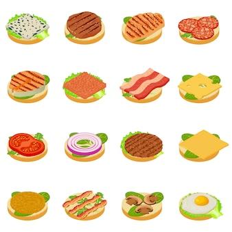 Conjunto de ícones de nutrição