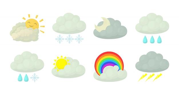 Conjunto de ícones de nuvem