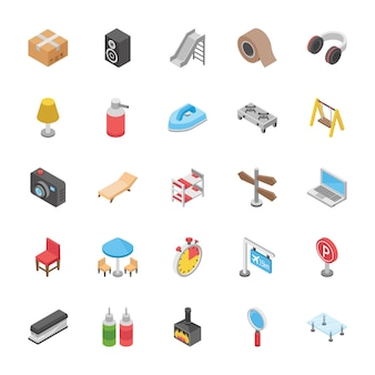 Conjunto de ícones de objetos