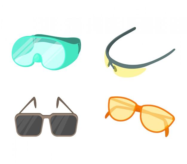 Conjunto de ícones de óculos de desporto