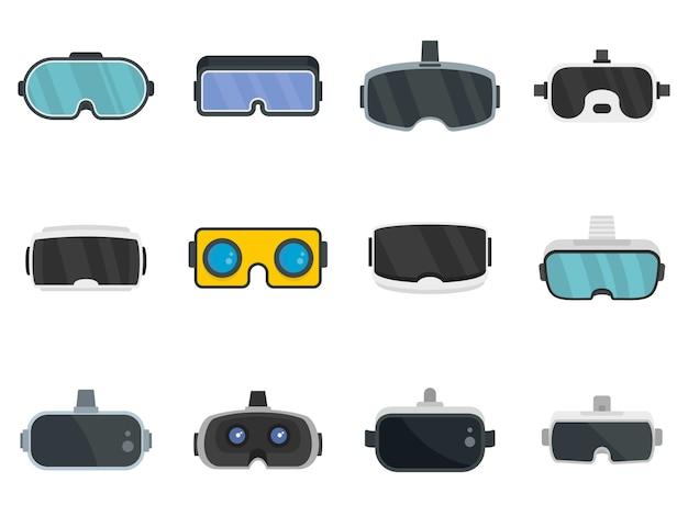 Conjunto de ícones de óculos de jogo