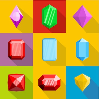 Conjunto de ícones de ornamentação, estilo simples