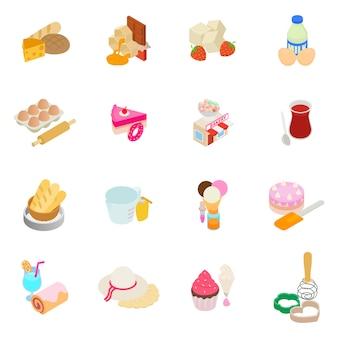 Conjunto de ícones de padeiro