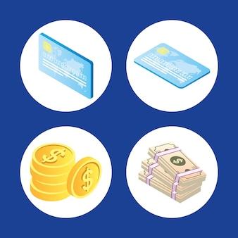 Conjunto de ícones de pagamento online