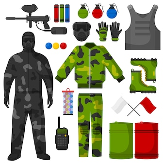 Conjunto de ícones de paintball