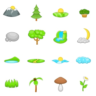 Conjunto de ícones de paisagem