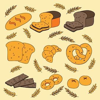 Conjunto de ícones de pão