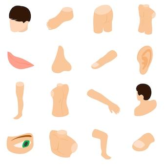 Conjunto de ícones de partes do corpo