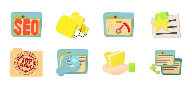Conjunto de ícones de pasta