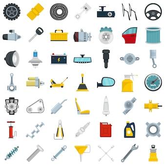 Conjunto de ícones de peças de carro