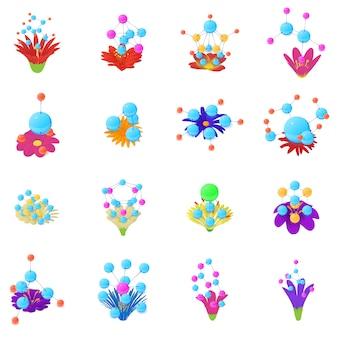 Conjunto de ícones de perfume floral