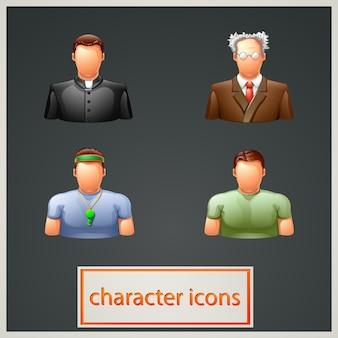 Conjunto de ícones de pessoas