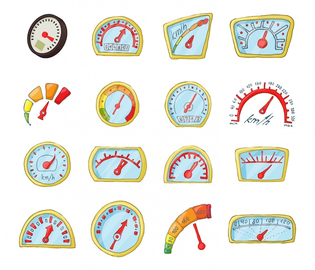 Conjunto de ícones de placa de traço