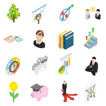 Conjunto de ícones de planejamento de negócios