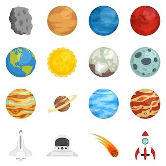 Conjunto de ícones de planetas
