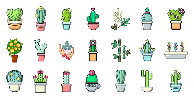 Conjunto de ícones de planta de casa. conjunto de desenhos animados de ícones de vetor de planta de casa conjunto isolado