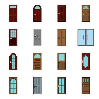 Conjunto de ícones de porta