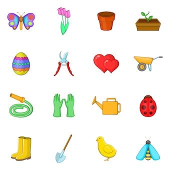 Conjunto de ícones de primavera