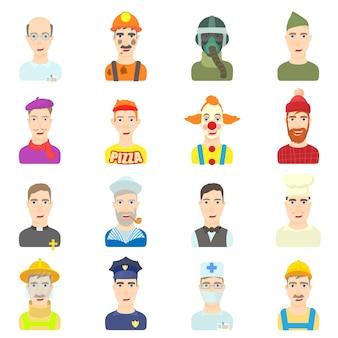 Conjunto de ícones de profissão