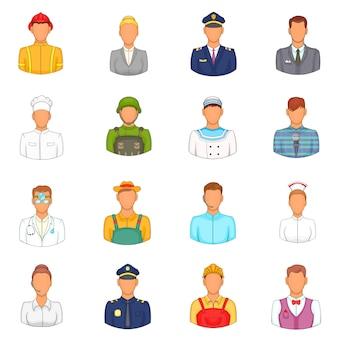 Conjunto de ícones de profissões