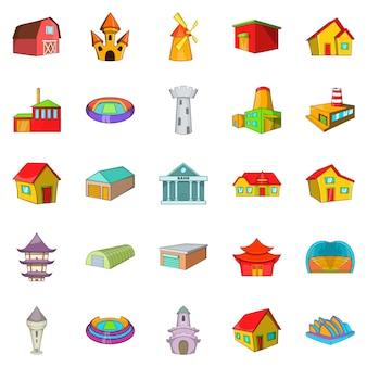 Conjunto de ícones de quadro, estilo cartoon